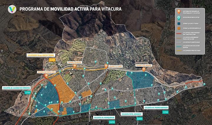 Programa de movilidad activa en Vitacura